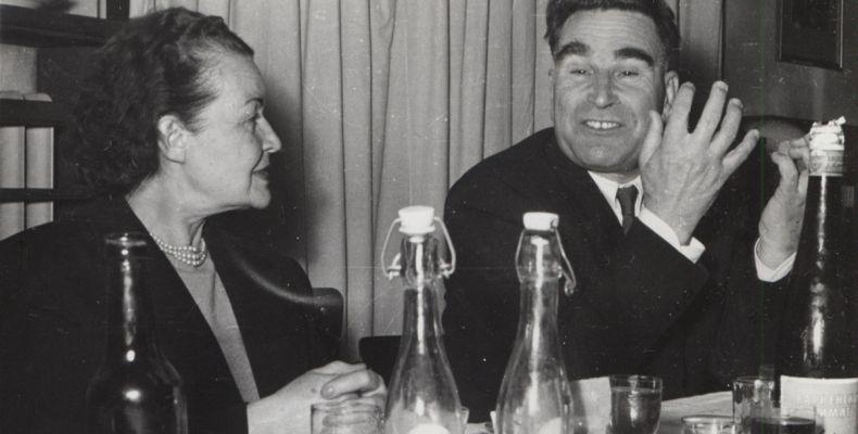 Елисавета Багряна и Георги Караславов. Държател Национален литературен музей