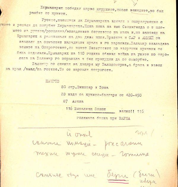 Записки на Фани Попова-Мутафова за историята на българския народ