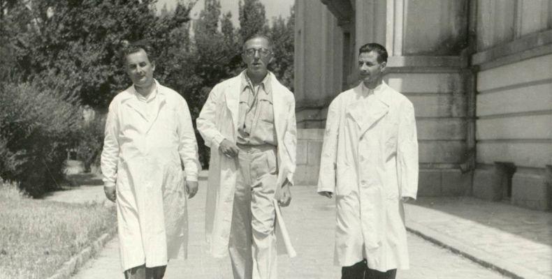 Димитър Димов с колеги