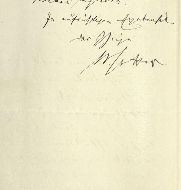 Писмо до Михалаки Георгиев от немското посолство в Белград, 8.02.1899 г. 2(2). Държател Институт за литература – БАН