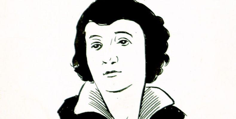 Мара Белчева – графичен портрет от Михаил Кръстев. Държател Институт за литература – БАН